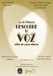 "Cartel del curso ""Descubre tu Voz"", diseñado por JS Marketing Online"